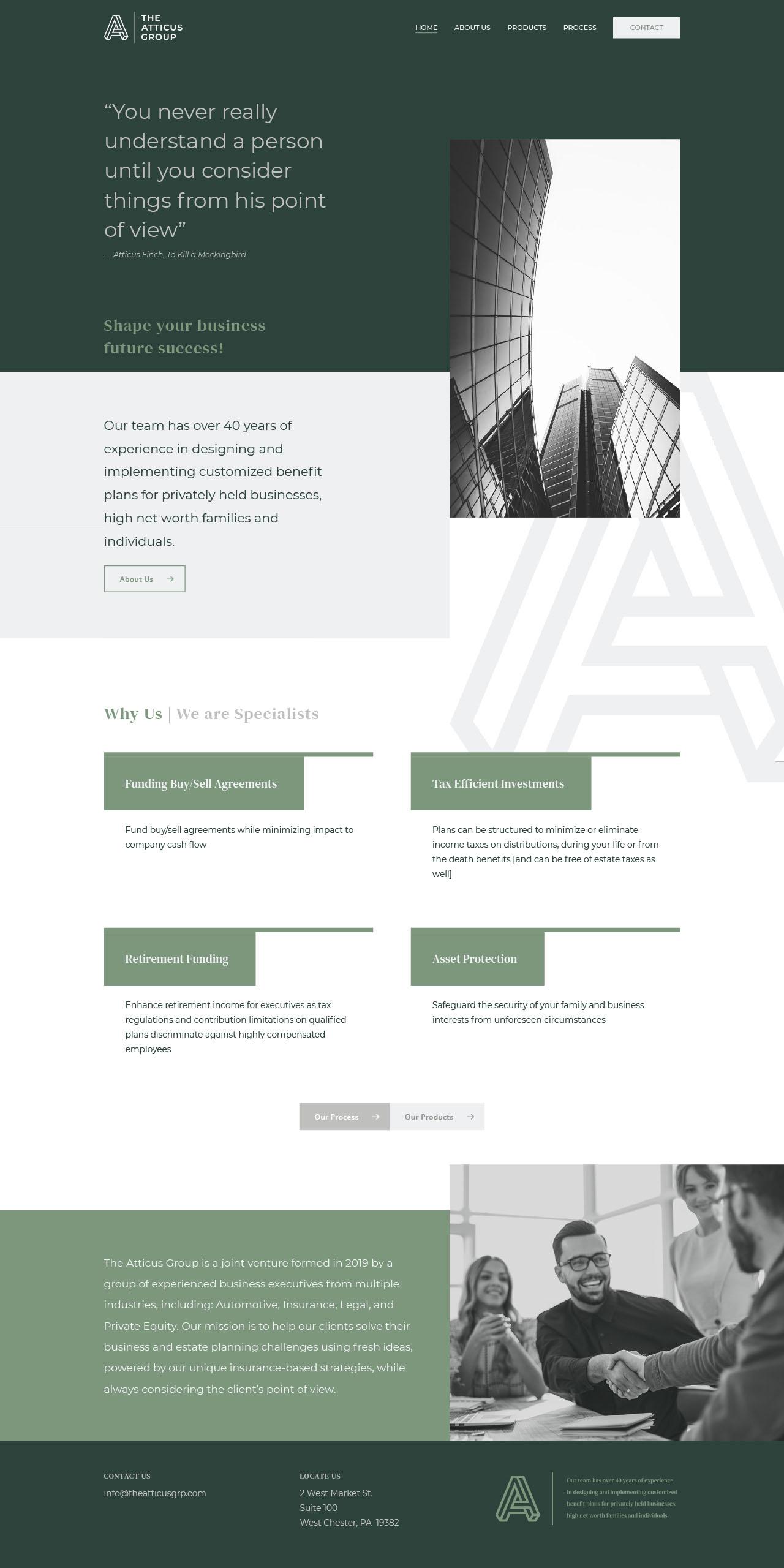The Atticus Group Website