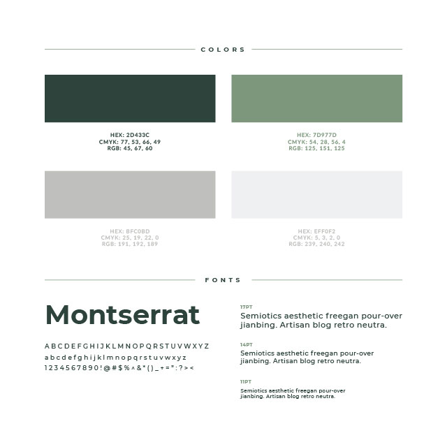 The Atticus Group Brand colors and fonts